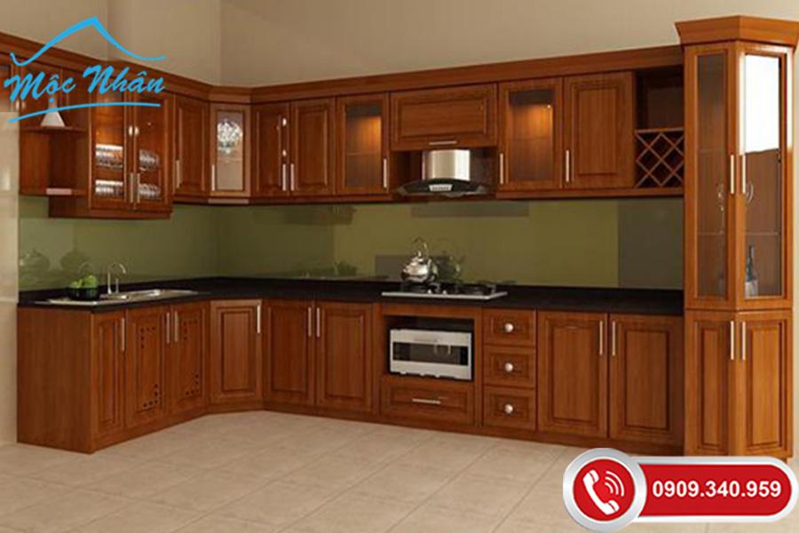 Cập nhật báo giá tham khảo tủ bếp gỗ xoan đào giá rẻ tphcm