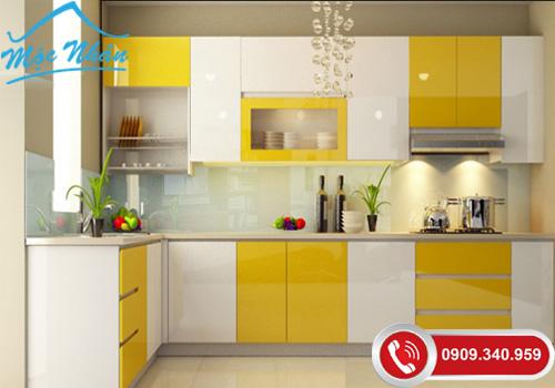 Bảng giá đóng tủ bếp acrylic an cường giá rẻ tphcm