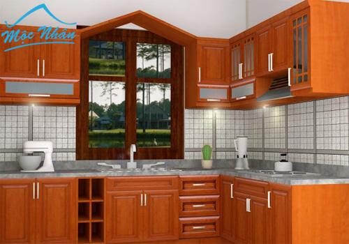 Tủ bếp gỗ căm xe TBCX 054