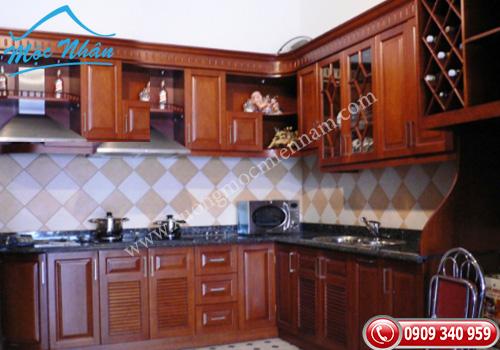 Tủ bếp gỗ căm xe TBCX 061