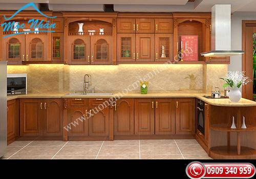 Tủ bếp gỗ Xoan Đào TBXĐ 001