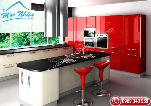 Tủ bếp gỗ Acrylic TBA 46