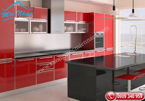 Tủ bếp gỗ Acrylic TBA 47