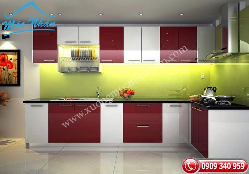 Tủ bếp gỗ Acrylic TBA 50