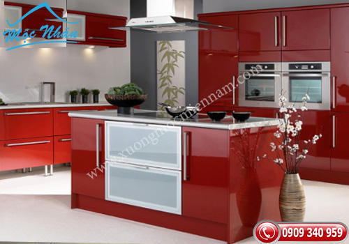 Tủ bếp gỗ Acrylic TBA 51