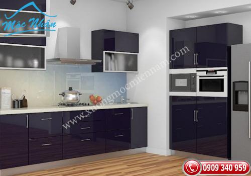 Tủ bếp gỗ Acrylic TBA 54