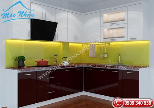 Tủ bếp gỗ Acrylic TBA 55