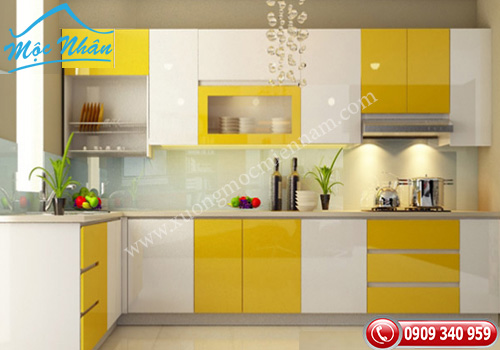 Tủ bếp gỗ Acrylic TBA 56