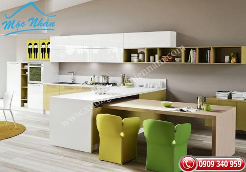 Tủ bếp gỗ Acrylic TBA 57