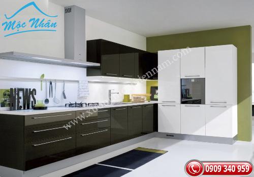 Tủ bếp gỗ Acrylic TBA 58