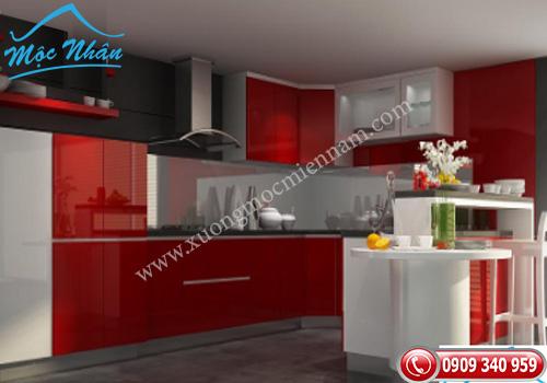 Tủ bếp gỗ Acrylic TBA 59