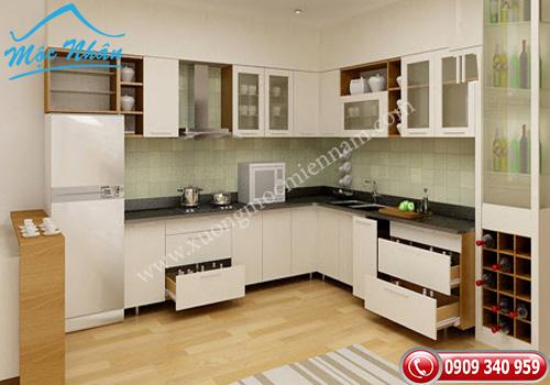 Tủ bếp gỗ Acrylic TBA 61