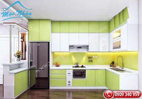 Tủ bếp gỗ Acrylic TBA 62