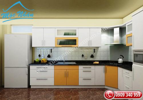 Tủ bếp gỗ laminate TBL 62