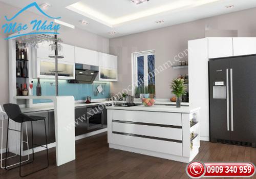 Tủ bếp gỗ laminate TBL 65