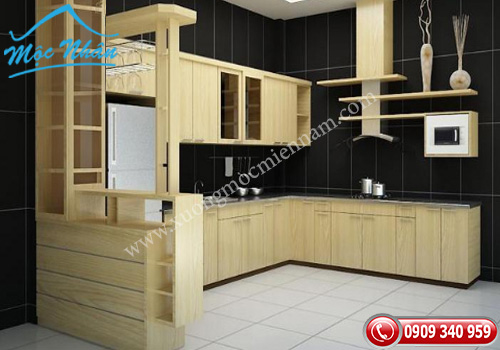 Tủ bếp gỗ laminate TBL 66