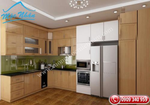 Tủ bếp gỗ Veneer TBV 52