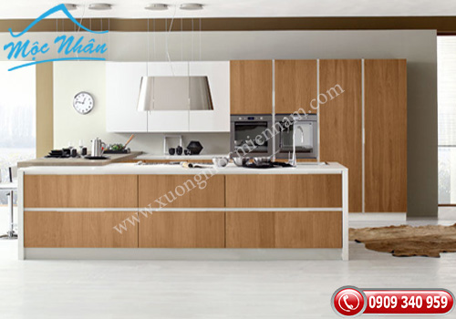 Tủ bếp gỗ Veneer TBV 53