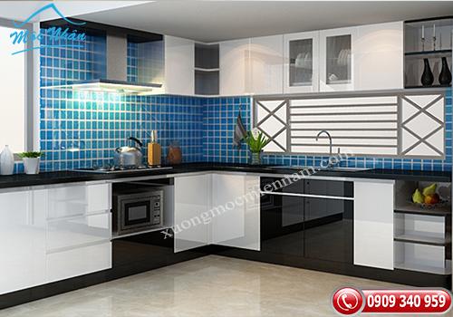 Tủ bếp gỗ Acrylic TBA 70