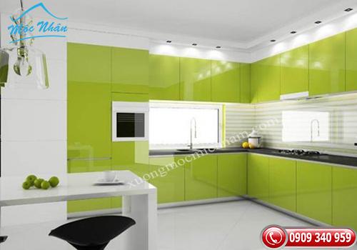 Tủ bếp gỗ Acrylic TBA 71