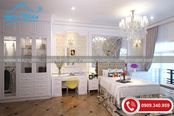 Nội thất phòng ngủ tân cổ điển PNTCD09348