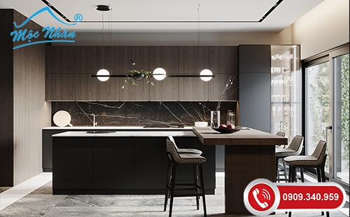 Tủ bếp gỗ melamine TBM 48