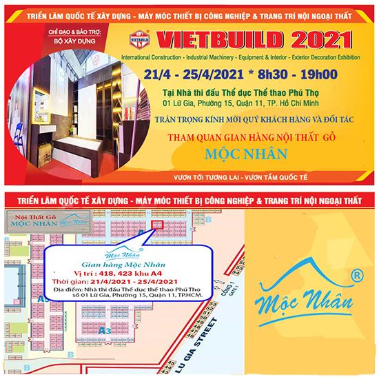 Triển lãm nội thất VIETBUID 2021 tại TPHCM