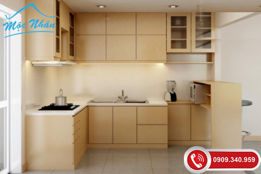 tủ bếp gỗ veneer