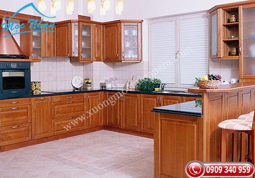 Tủ bếp gỗ căm xe TBCX 051