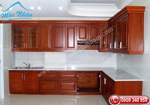 Tủ bếp gỗ căm xe TBCX 055