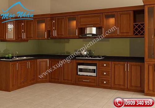 Tủ bếp gỗ căm xe TBCX 0852