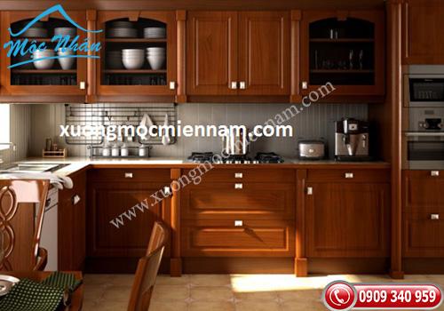 Tủ bếp gỗ căm xe TBCX 062