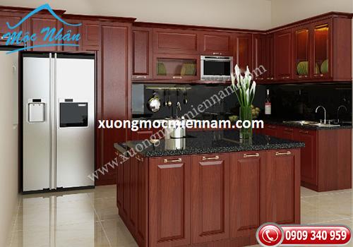 Tủ bếp gỗ căm xe TBCX 063
