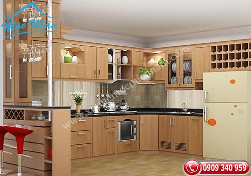 Tủ bếp gỗ Sồi TBS 01