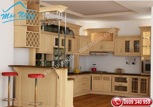 Tủ bếp gỗ Sồi TBS 02