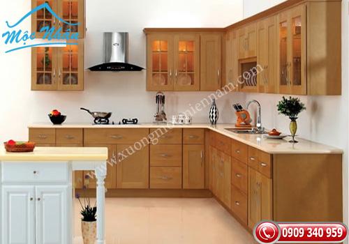 Tủ bếp gỗ Sồi TBS 03
