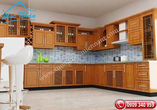 Tủ bếp gỗ Sồi TBS 04
