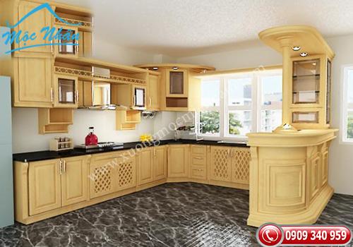 Tủ bếp gỗ Sồi TBS 05