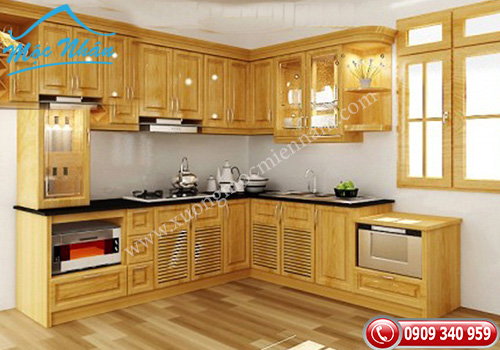 Tủ bếp gỗ Sồi TBS 06