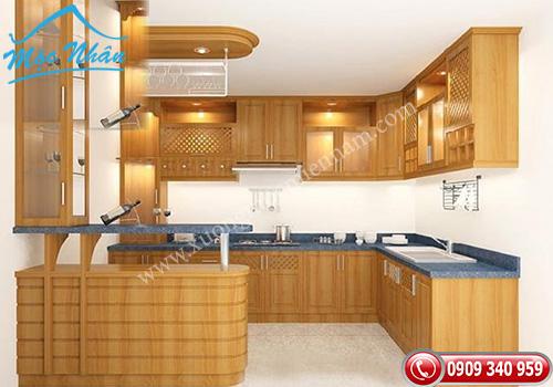 Tủ bếp gỗ Sồi TBGS0785