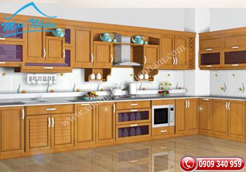 Tủ bếp gỗ Sồi TBS 08