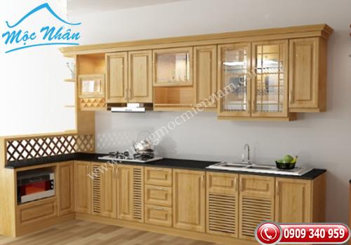 Tủ bếp gỗ Sồi TBS 09