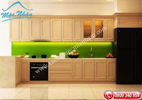 Tủ bếp gỗ Sồi TBS 10