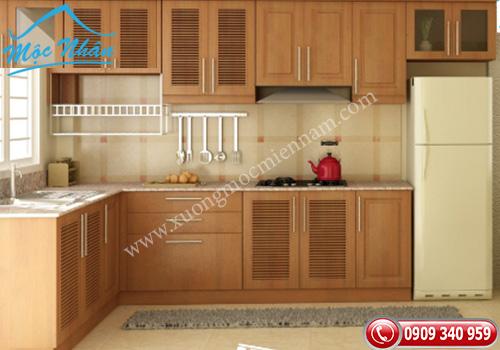 Tủ bếp gỗ Sồi TBS 11
