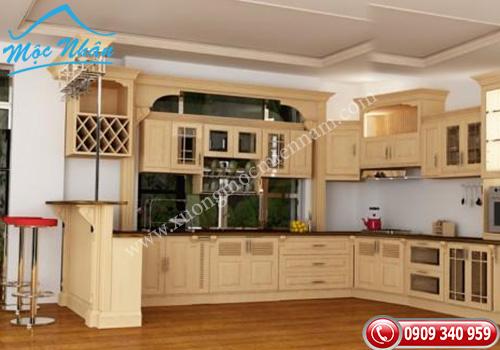 Tủ bếp gỗ Sồi TBS 12