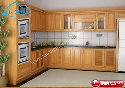 Tủ bếp gỗ Sồi TBS 13
