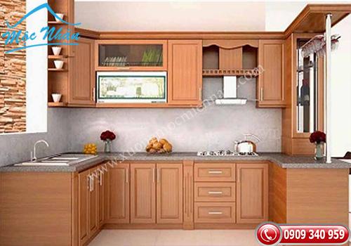 Tủ bếp gỗ Sồi TBS 14