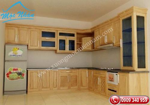 Tủ bếp gỗ Sồi TBS 15