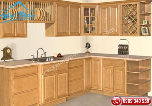 Tủ bếp gỗ Sồi TBS 16