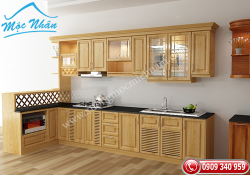 Tủ bếp gỗ Sồi TBS 17